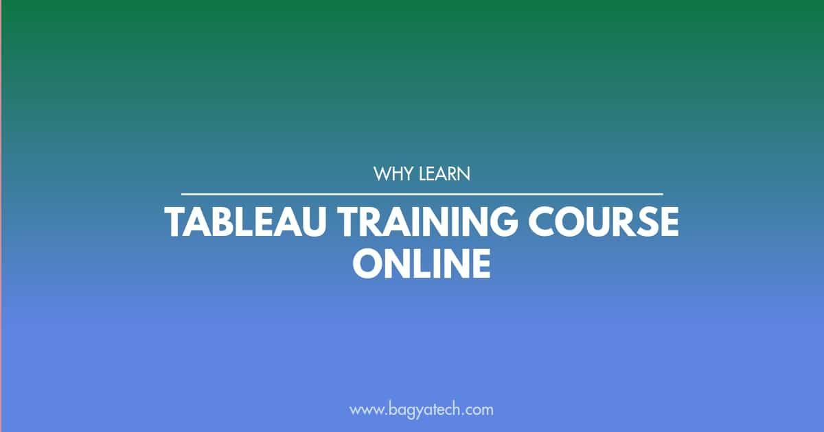 Learn Tableau training course online