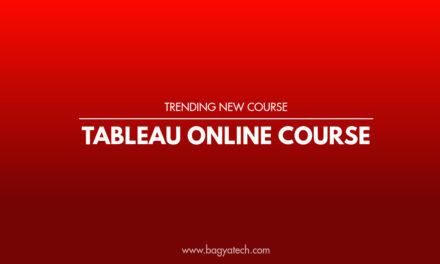 Tableau Online Course – Trending New Course